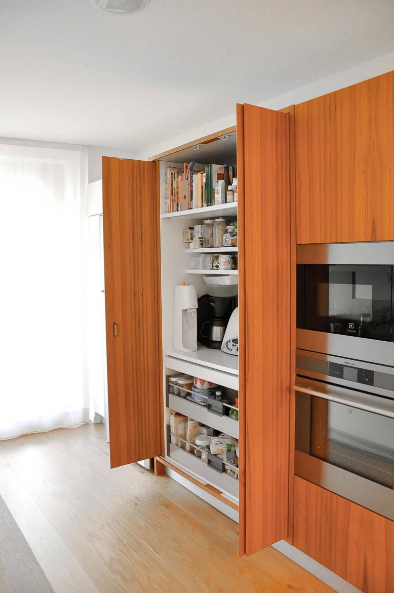 cucina su misura in teak - Berbenno di Valtellina
