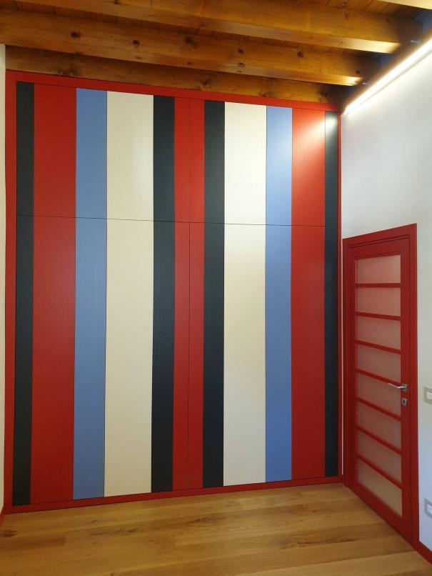 cabina armadio in rovere laccato - Sondrio