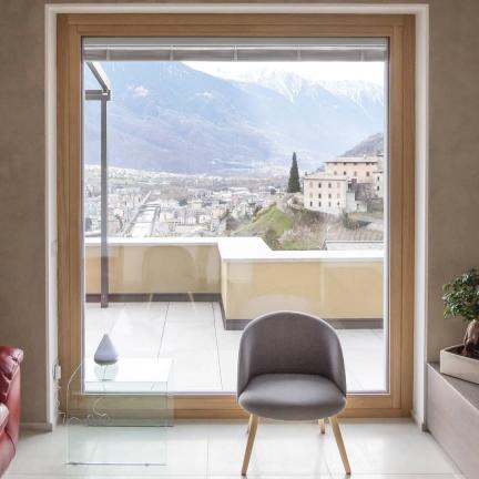 finestra in rovere legno / alluminio 100 m - Sondrio