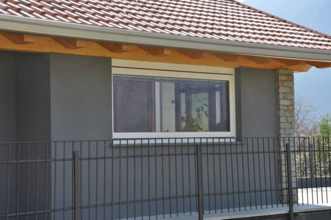 finestra legno/alluminio 90 mm con apertura bilico - Berbenno di Valtellina