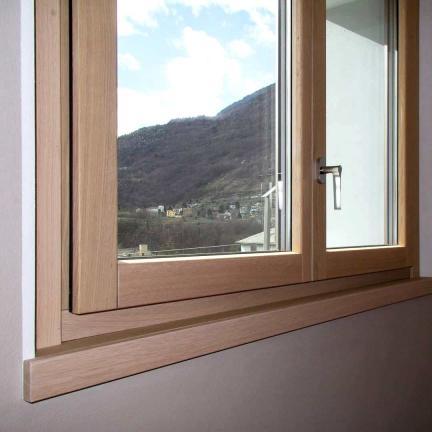 finestra in rovere legno / alluminio 100 mm - Sondrio