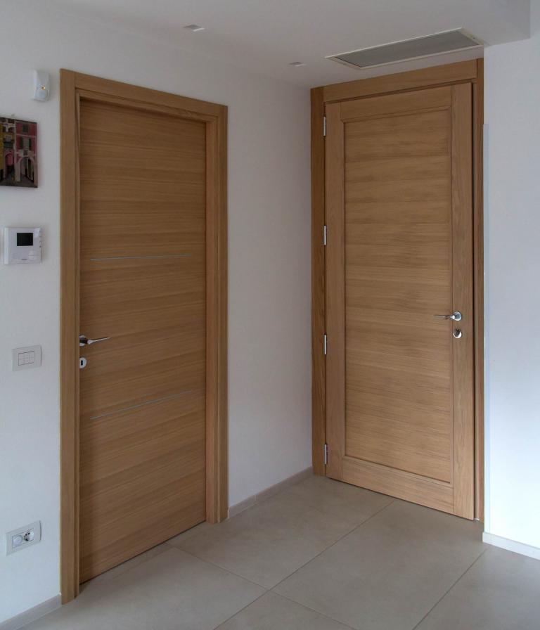 porta interna e portoncino in rovere legno / alluminio 100 mm - Sondrio