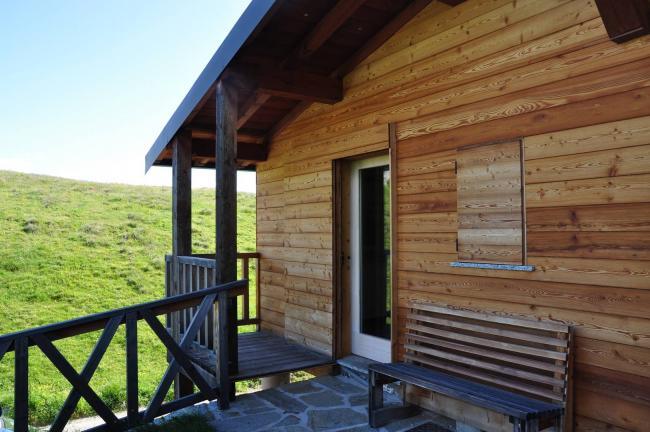 rivestimento baita e portoncino ingresso - Berbenno di Valtellina